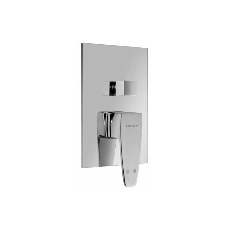 Artema Q-Line Ankastre Banyo Bataryası (Sıva Üstü Grubu), Mat Siyah A4054592 Ankastre Banyo Bataryası