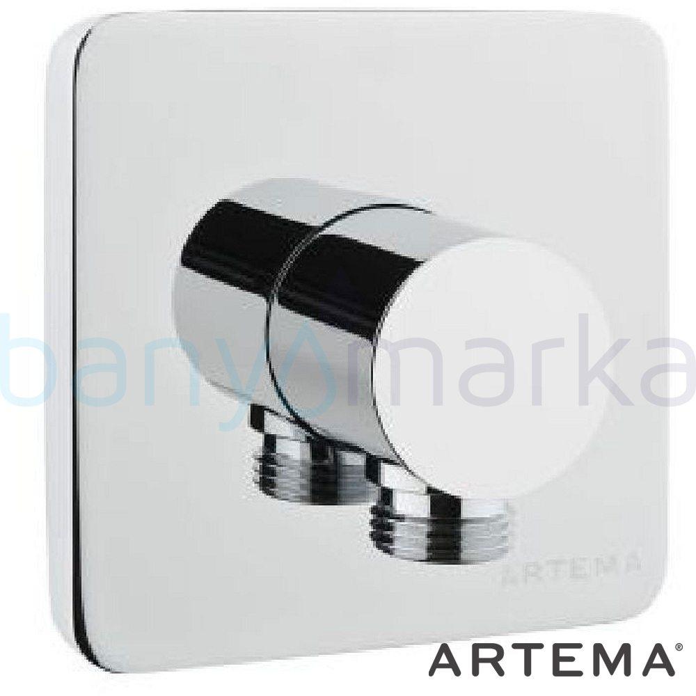 Artema T4 Ankastre El Duşu Çıkışı, Mat Siyah A4064992 Çıkış Ucu