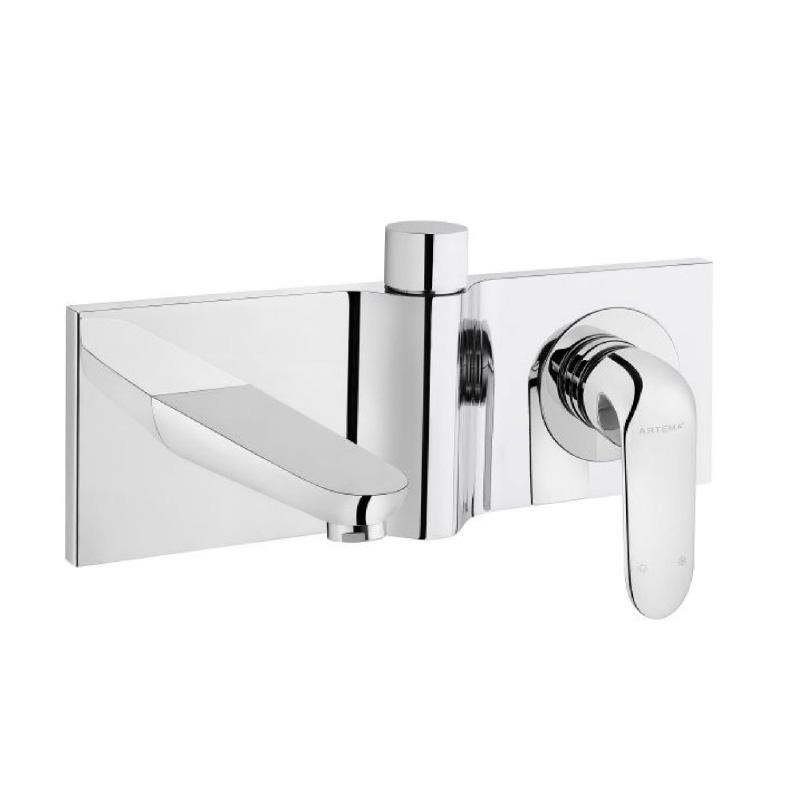 Artema Style X Ankastre Banyo Bataryası-2 Yollu Yönlendiricili (Sıva Üstü Grubu), Mat Siyah A4067492 Ankastre Banyo Bataryası