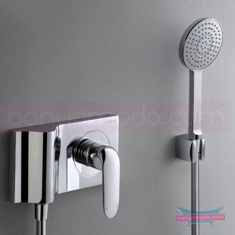 """Artema Style X Ankastre Duş Bataryası (Sıva Üstü Grubu) - A40676 """"Devamlılık"""" ve """"bütünlük"""" düşüncesinden doğan bir armatür. ezber bozan kusursuz tasarımıyla banyonuza devamlılık ve bütünlük katar"""