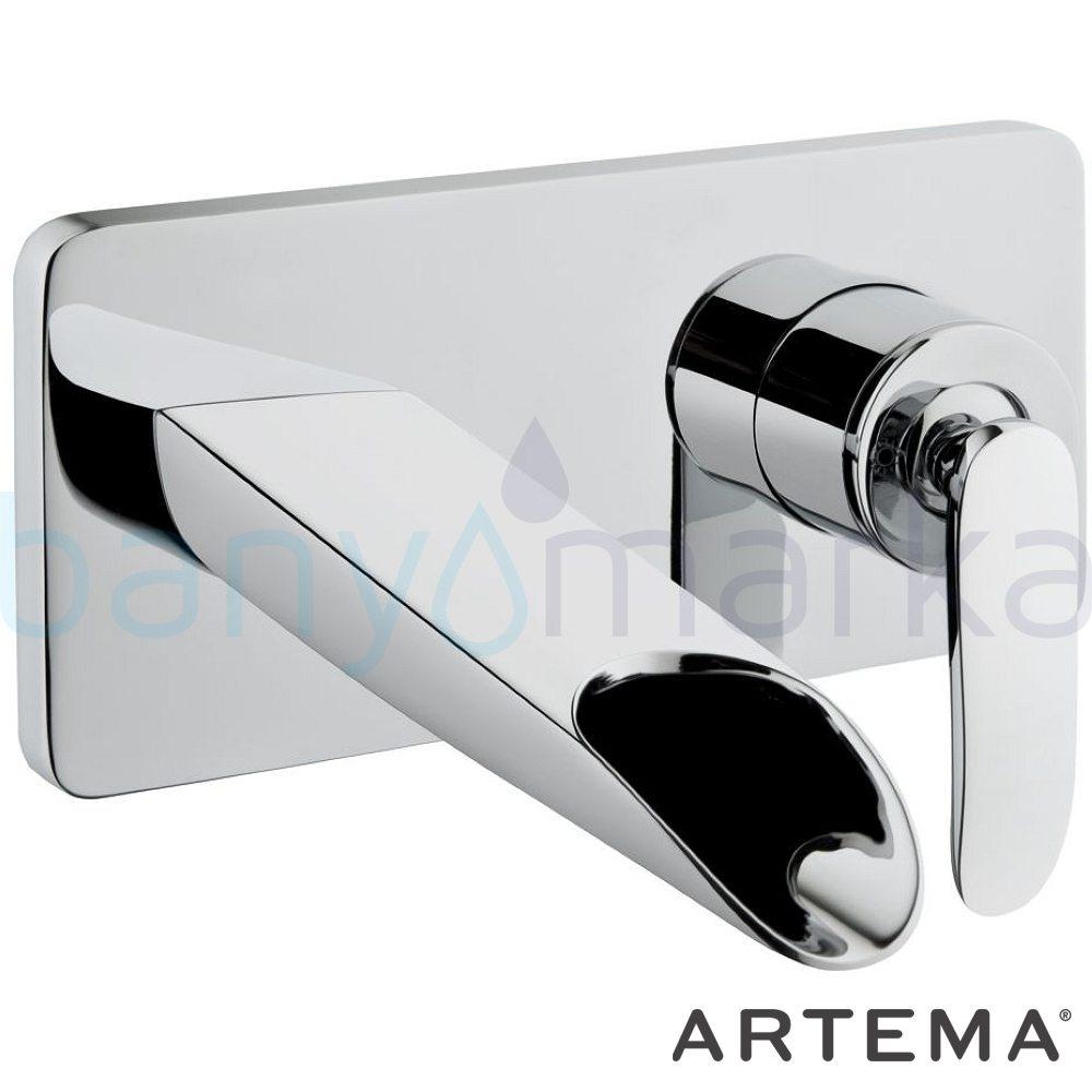 Artema T4 Ankastre Lavabo Bataryası (Şelale Akışlı) - A40693 ısı ve debi ayarlı su ve enerji tasarruflu suyun doğal akışının önem kazandığı Noa tasarımlı armatür