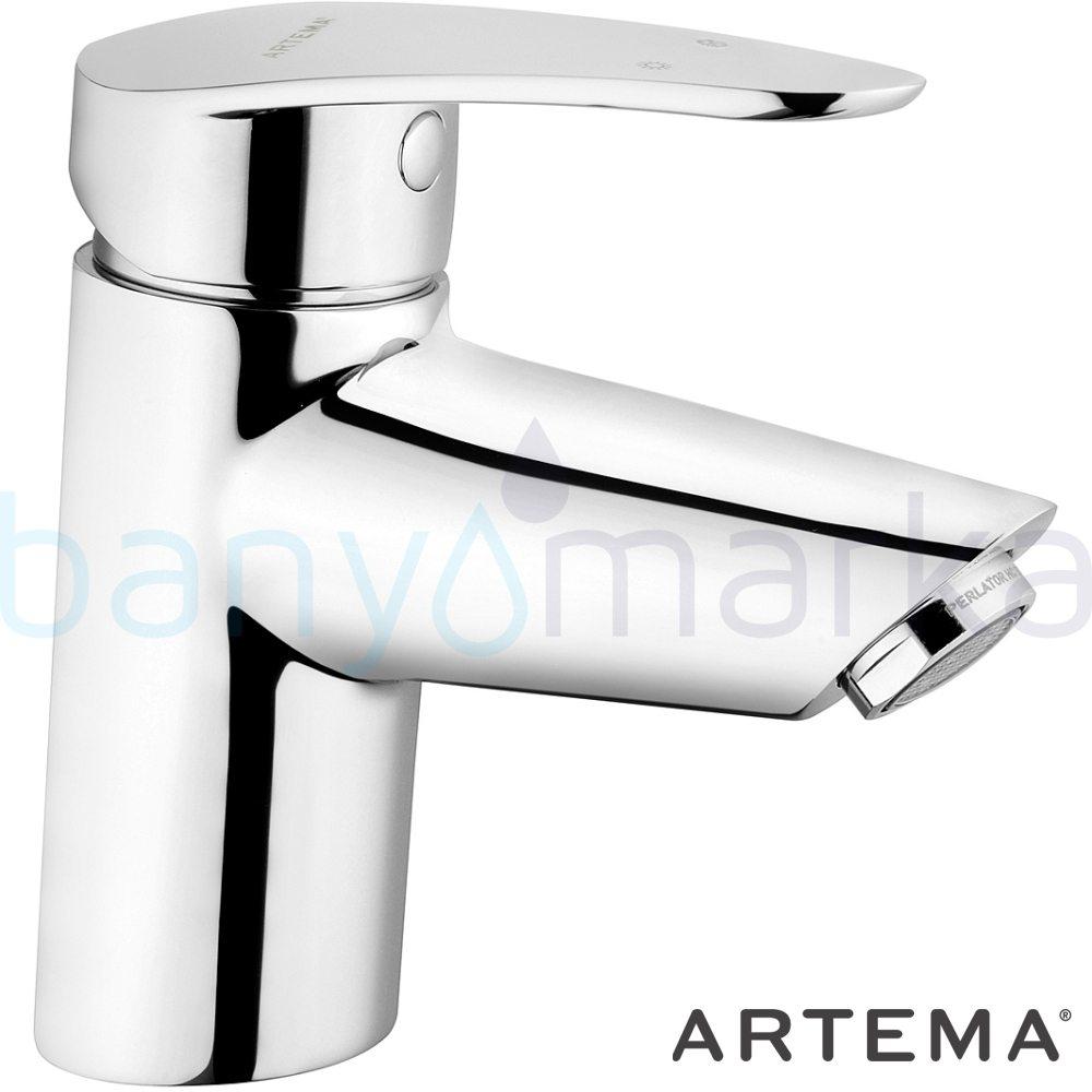 Artema Dynamic S Lavabo Bataryası - A40950 açılı perlatörlü şık tasarımı ve sıradışı dizaynının yanı sıra uygun fiyatlı armatür
