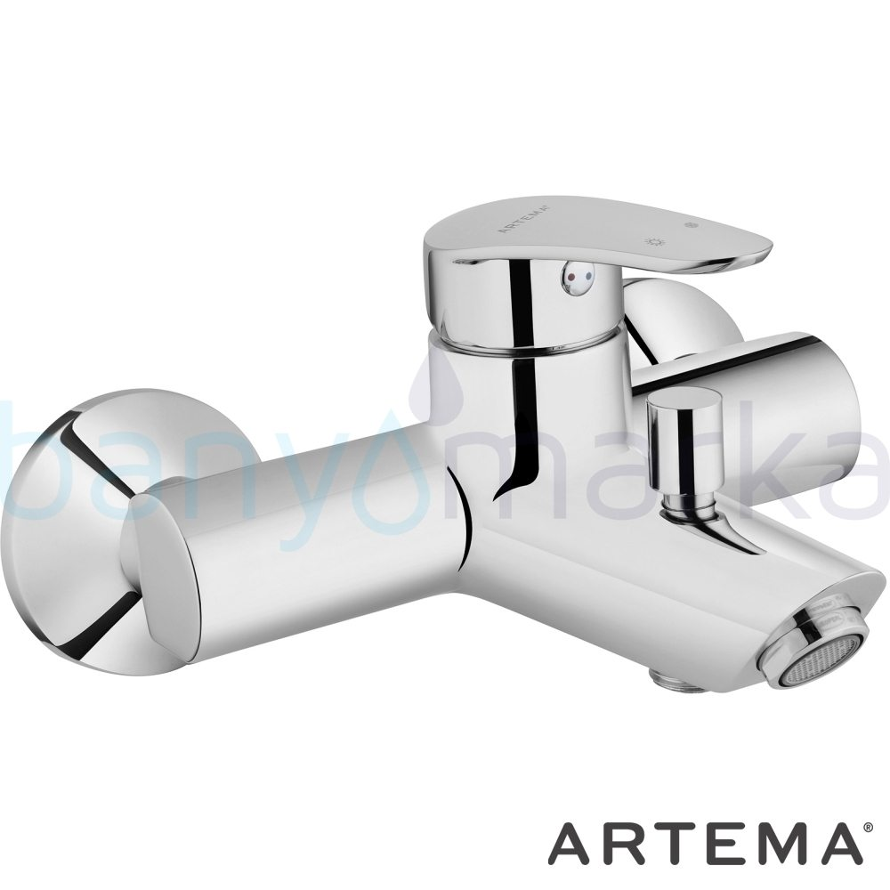 Artema Dynamic S Banyo Bataryası - A40953 şık tasarımı ve sıradışı dizaynının yanı sıra uygun fiyatlı armatür