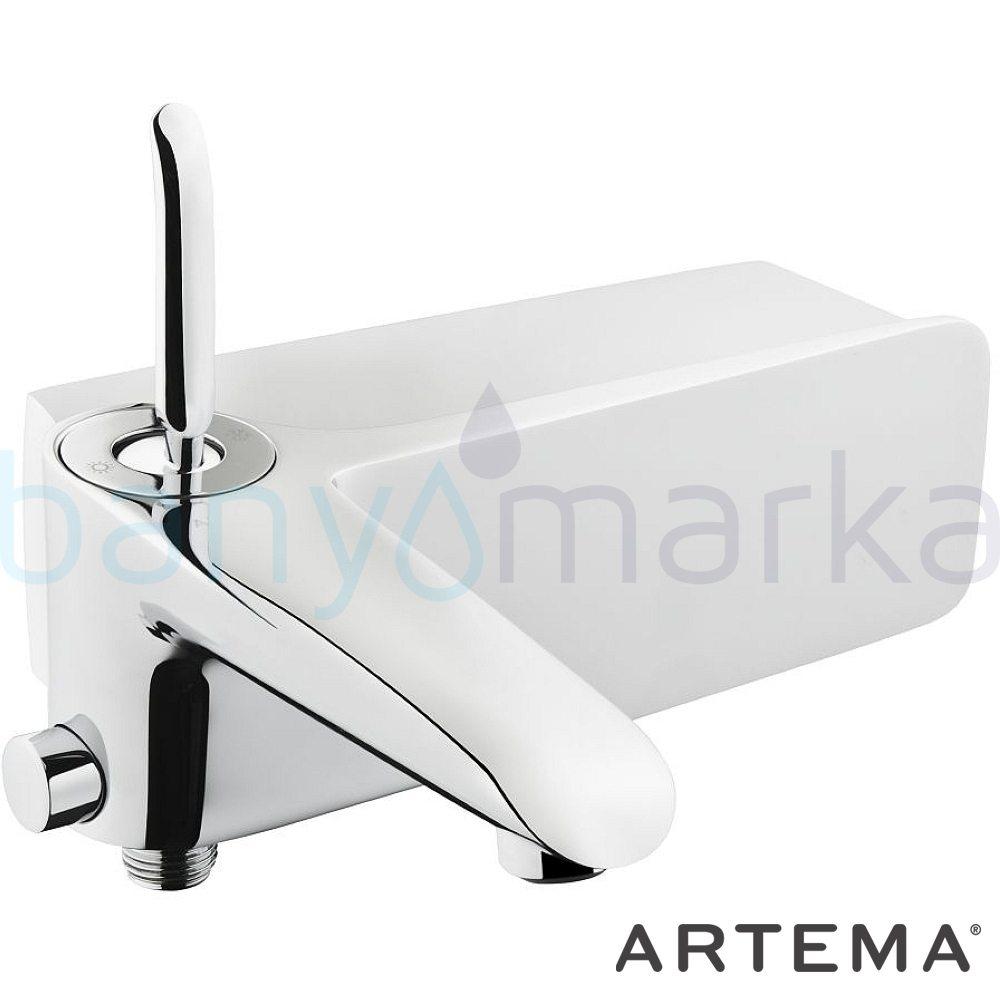 Artema T4 Banyo Bataryası - A41245 kireç kırıcılı joystick kartuş suyun doğal akışının önem kazandığı Noa tasarımlı armatür