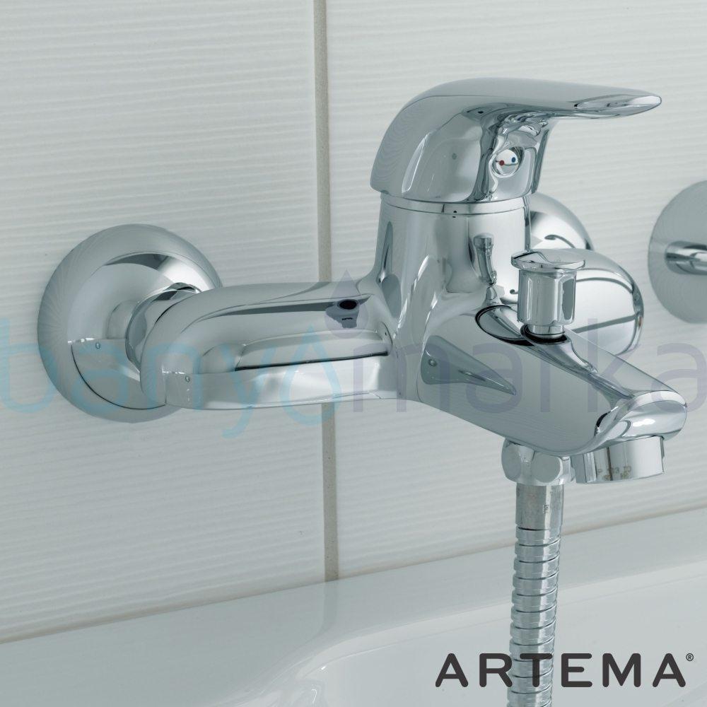 Artema Ares Banyo Bataryası - A41617 ısı ve debi ayarlı su ve enerji tasarruflu zarafet ve güç arasındaki dengeyi ergonomiyle bütünleştirmiş ekonomik armatür