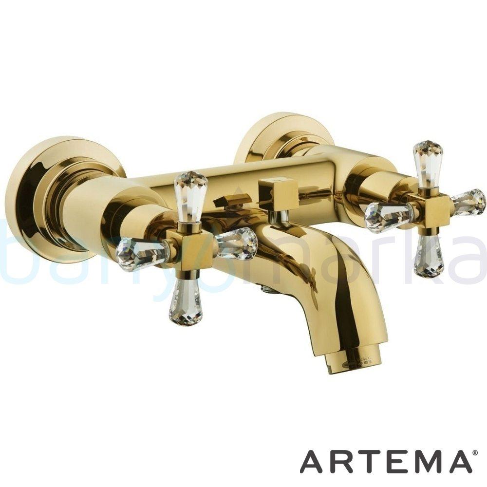 Artema Juno Swarovski Banyo Bataryası A41666 Standart Banyo Bataryası