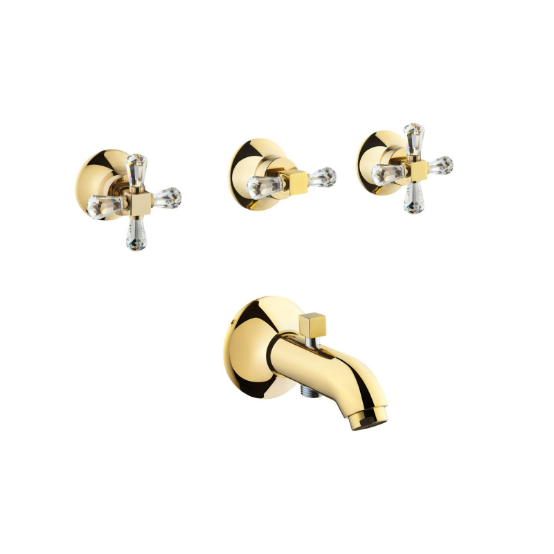 Artema Juno Swarovski Ankastre Banyo Bataryası (El Duşu Çıkışlı) A41668 Ankastre Banyo Bataryası