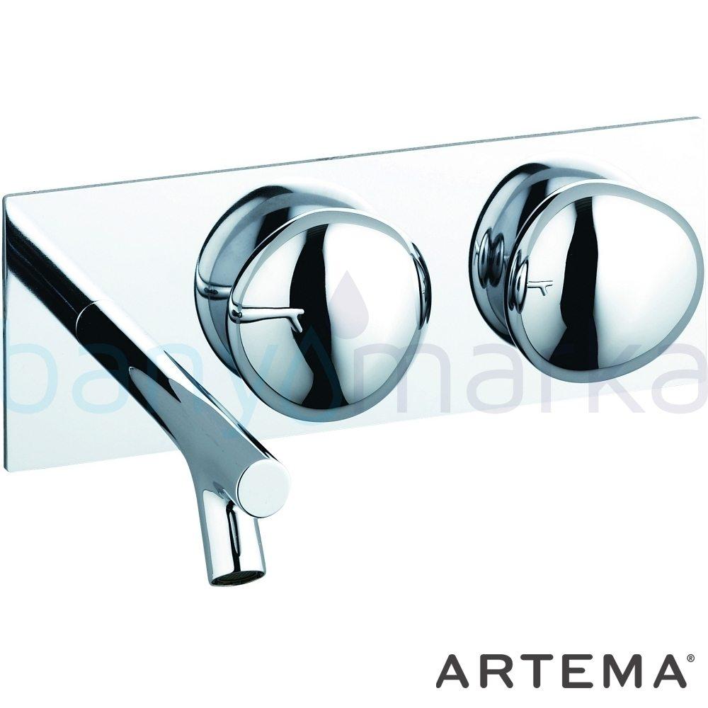 Artema İstanbul Ankastre Lavabo Bataryası - A41808 90 derece açma kapama sıradışı dizaynı ileri teknolajisiyle ünlü tasarımcı Ross Lovegrove özel serisinden