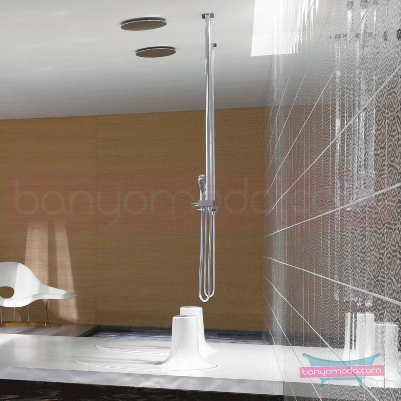 Artema İstanbul Joystick Duş Bataryası (Tavandan-El duşlu) - A41827 joystick kartuş sıradışı dizaynı ileri teknolajisiyle ünlü tasarımcı Ross Lovegrove özel serisinden