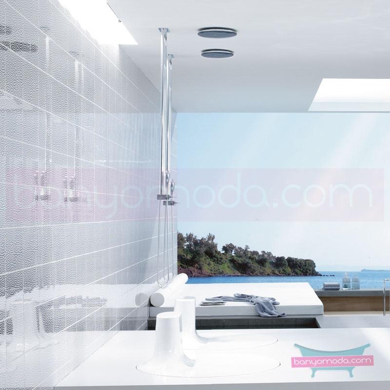 Artema İstanbul Joystick Duş Bataryası (Tavandan-El duşlu) A41827 Standart Duş Bataryası