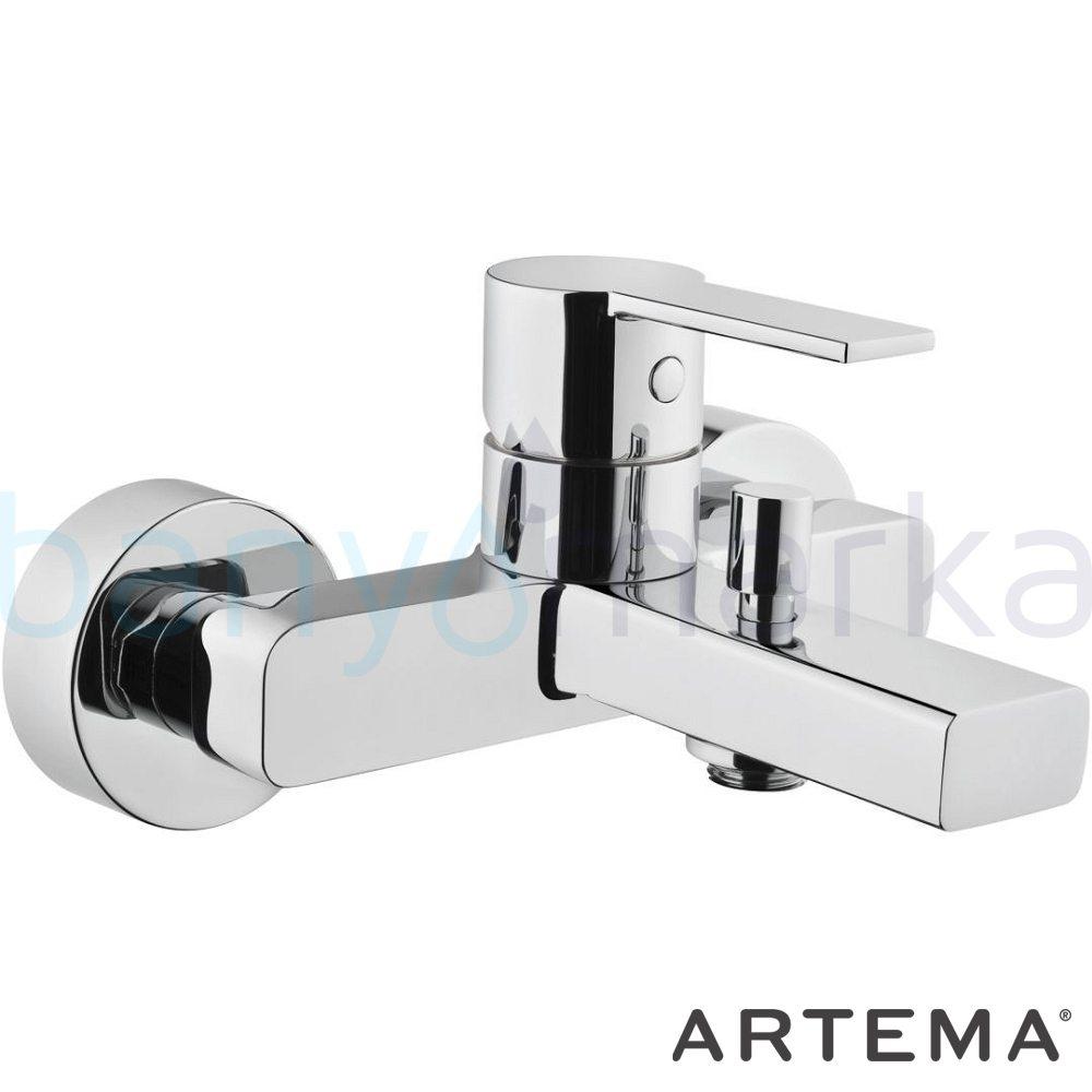 Artema Flo S Banyo Bataryası - A41937 ısı ve debi ayarlı su ve enerji tasarruflu bedensel engellilere ve doktorlara özel geliştirdiğimiş kolay kullanımlı armatür