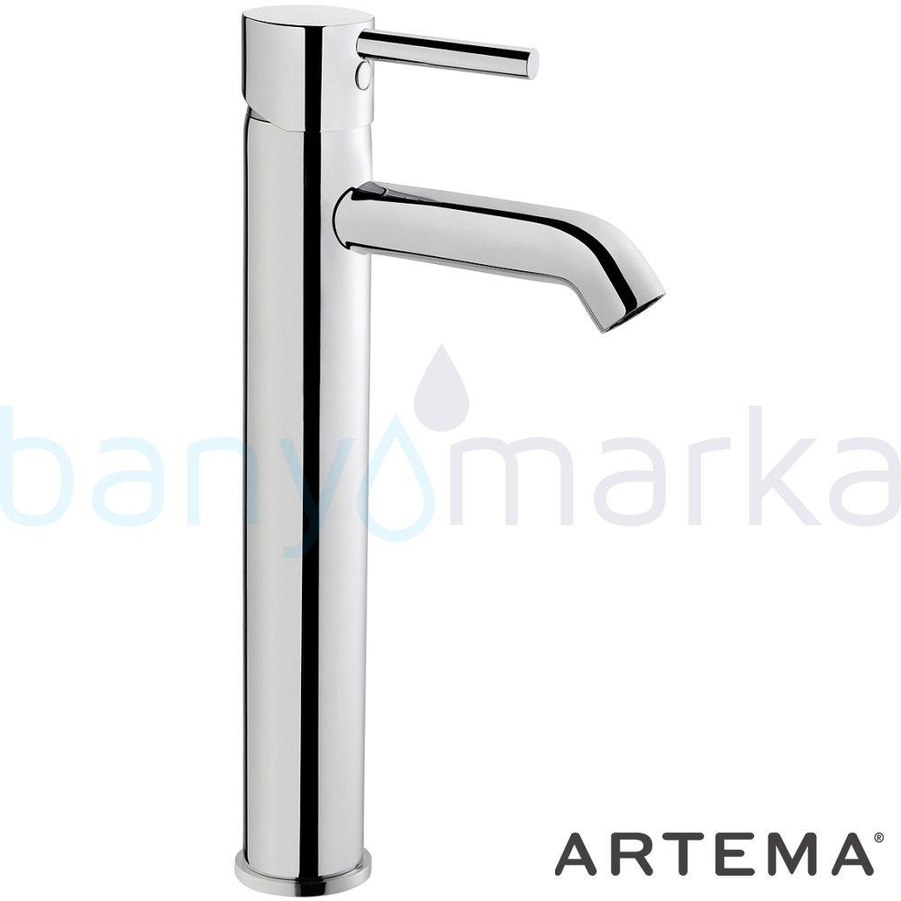 Artema Minimax S Lavabo Bataryası (Yüksek) - A41990 ısı ve debi ayarlı su ve enerji tasarruflu minimalist tasarımlı uygun fiyatlı armatür
