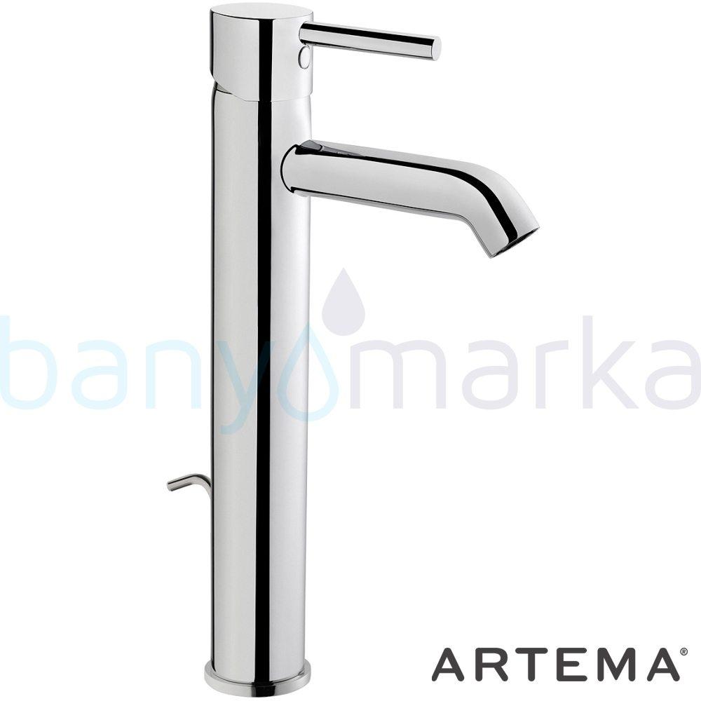 Artema Minimax S Lavabo Bataryası (Yüksek-Sifon Kumandalı) A41992 Tezgahüstü Lavabo Bataryası