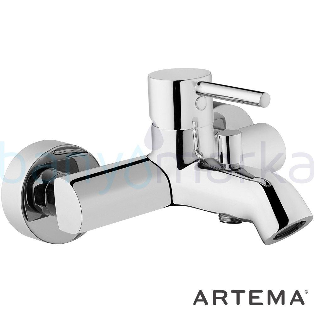 Artema Minimax S Banyo Bataryası - A41994 ısı ve debi ayarlı su ve enerji tasarruflu minimalist tasarımlı uygun fiyatlı armatür