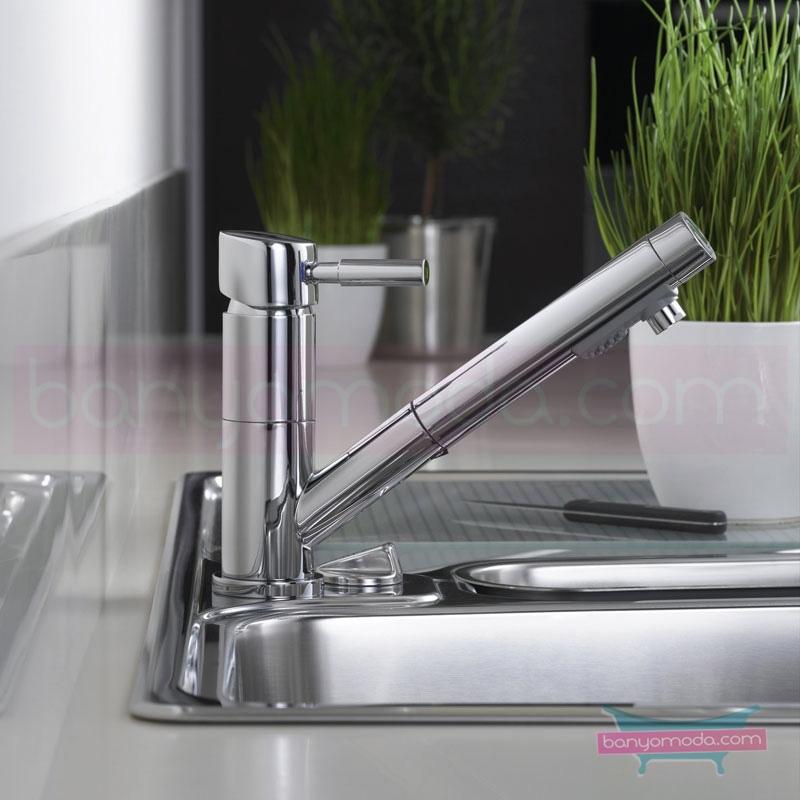Artema Ilia Eviye Bataryası (El duşlu) - A42046 ısı ve debi ayarlı su ve enerji tasarruflu özelliklerinin yanı sıra sadelik ve estediği yansıtan armatür