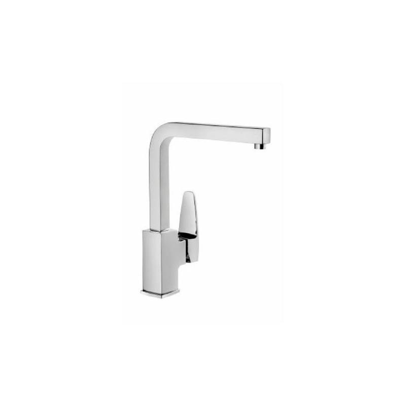 Artema Q-Line Eviye Bataryası - A42078 ısı ve debi ayarlı su ve enerji tasarruflu köşeli hatlarıyla farklılaşan armatür birçok lavabo ile uyum sağlıyor