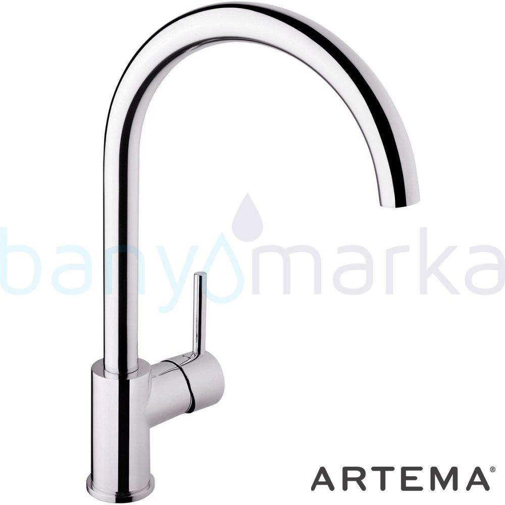Artema Minimax S Eviye Bataryası - A42091 ısı ve debi ayarlı su ve enerji tasarruflu minimalist tasarımlı uygun fiyatlı armatür