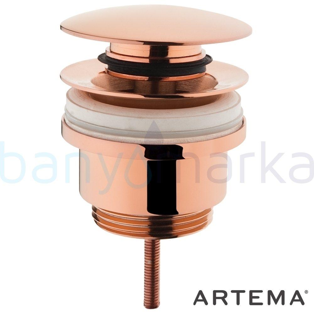 Artema Lavabo Yuvarlak Süzgeci (Universal-Sabit), Bakır A4514826 Sifon