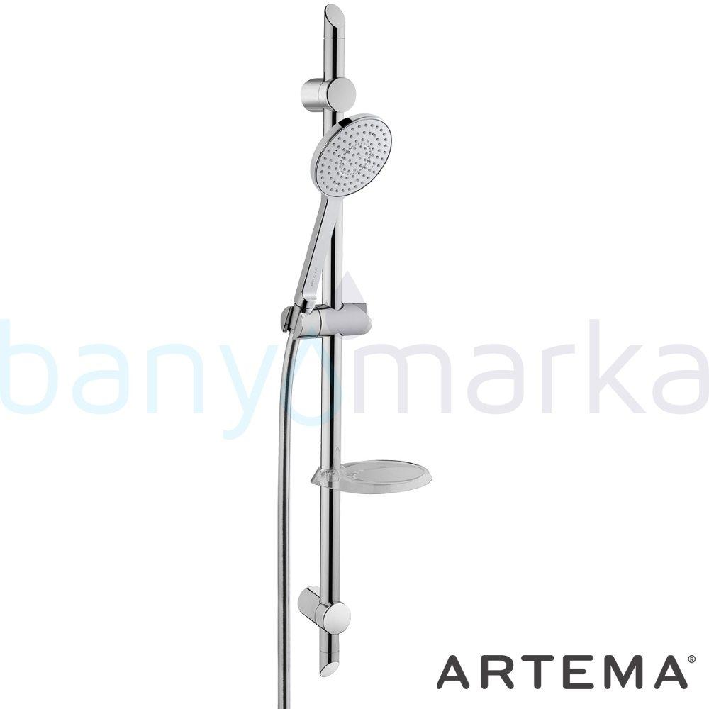 Artema Style X Sürgülü El Duşu Takımı - A45538 Tek Fonksiyonlu su tasarrufu  tarafından tasarlanan sade ve ince görüntsünüyle banyonuza değer katan sürgülü duş takımı