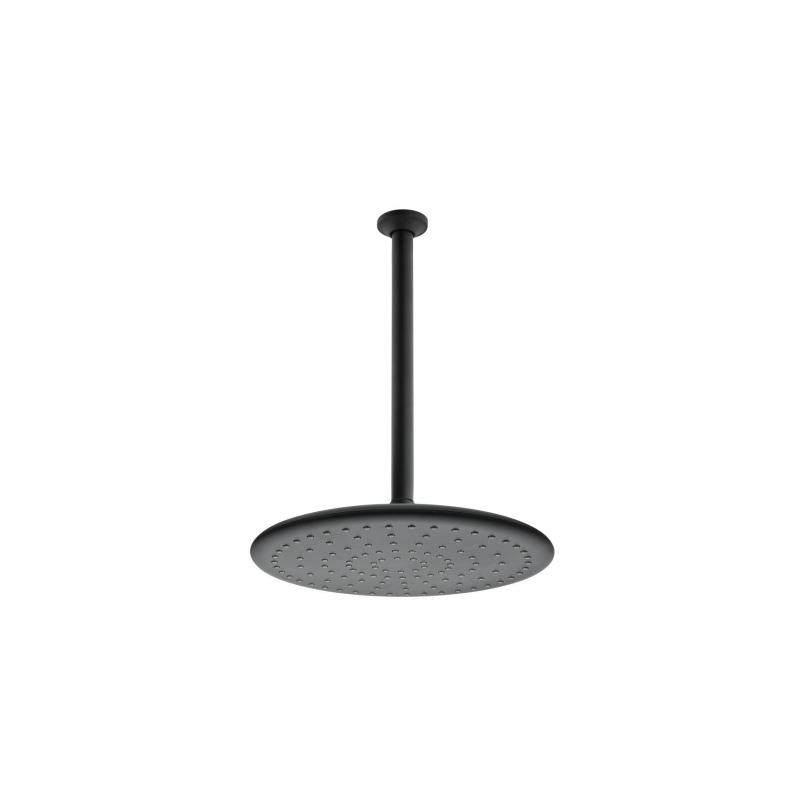 Artema Curve Duş Başlığı (Tavandan), Mat Siyah - A4560892 Tek fonksiyonlu Aquarain su tasarrufu kireç kırıcılı mafsallı  tarafından tasarlanan yağmurda yürüyomuş etkisi yaratan rahatlamanızı sağlayan tavandan duş başlığı