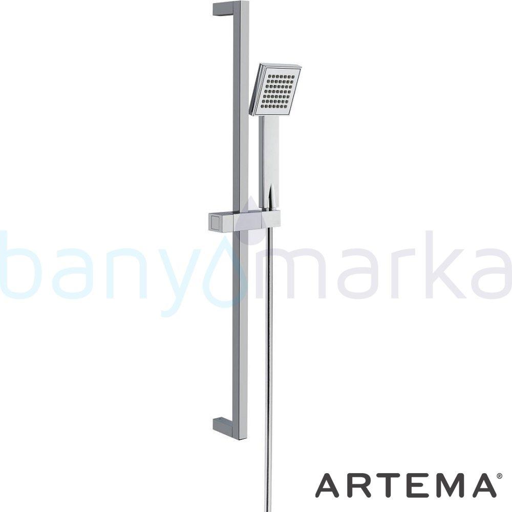 Artema Q-Line Sürgülü El Duşu Takımı A45610 Sürgülü Duş Takımı