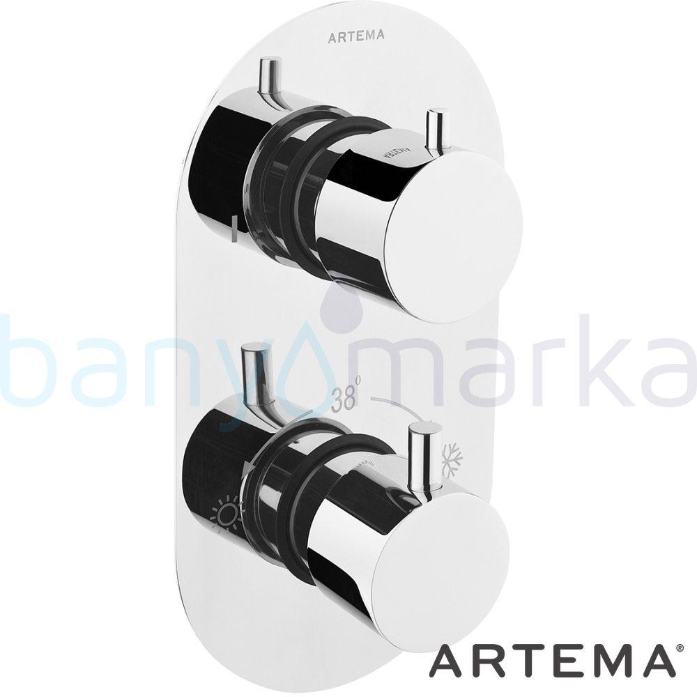 Artema AquaHeat Termostatik Ankastre Duş Bataryası A47026 Termostatik Ürünler