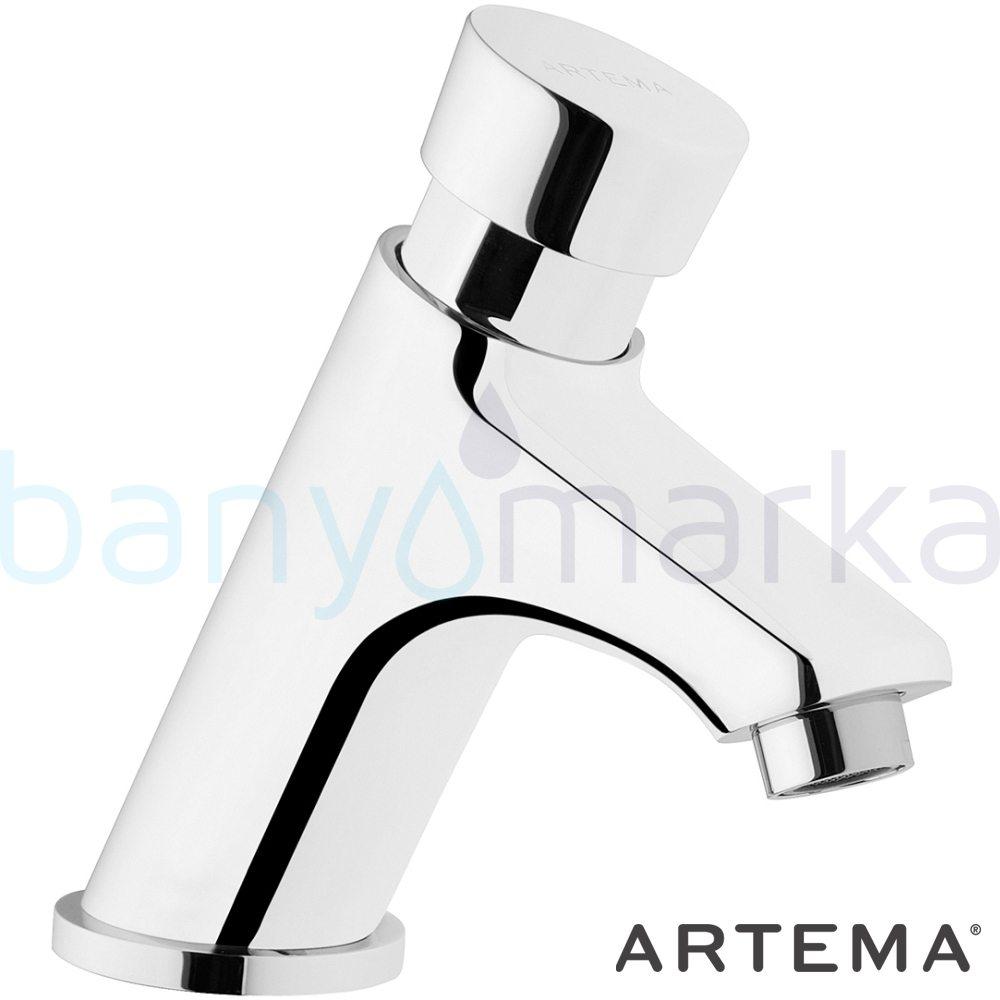 Artema AquaTouch Zaman Ayarlı Basmalı Lavabo Bataryası A47059 Standart Lavabo Bataryası