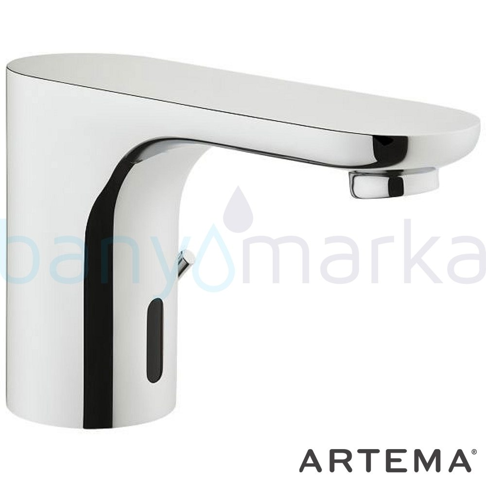 Artema Aquasee Fotoselli Lavabo Bataryası (Çift Su Girişli, Pilli) - A47061 el değmeden su akışı sağlayan hijyenin önem kazandığı teknolojik armatür