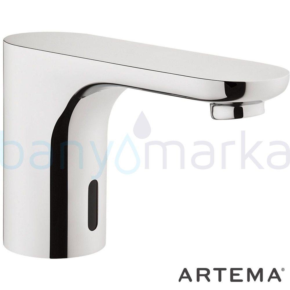 Artema AquaSee Fotoselli Lavabo Bataryası (Tek Su Girişli, Pilli) A47063 Fotoselli - Elektronik Batarya