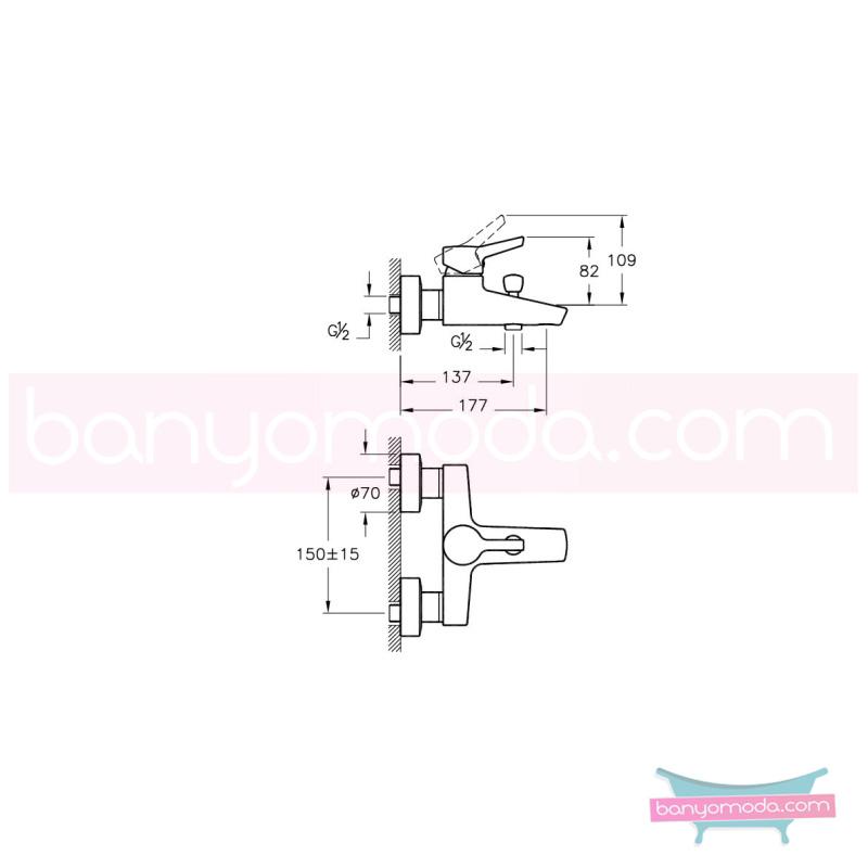 Artema Slope Banyo Bataryası - A40464 ısı ve debi ayarlı su ve enerji tasarruflu eğimli gövdesi ve küçük detaylarıyla banyonuz farklı bir estetik görünüme kavuşur