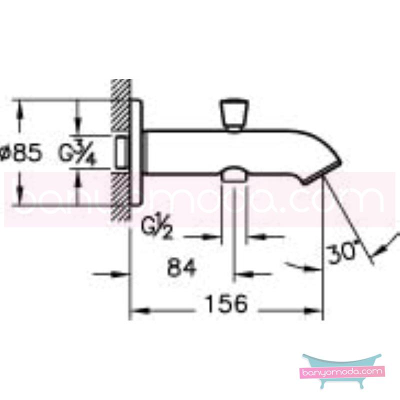 Artema Çıkış Ucu (El Duşu Çıkışlı) - A40564 armatür ve batarya tamamlayıcı üründür