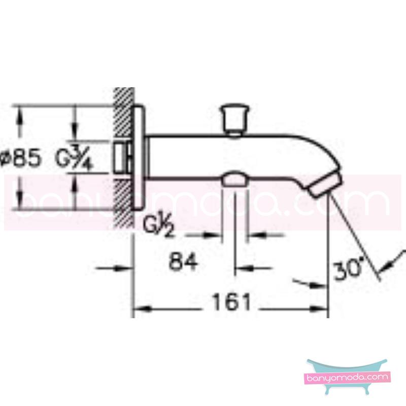 Artema Çıkış Ucu (El Duşu Çıkışlı) - A40570 armatür ve batarya tamamlayıcı üründür