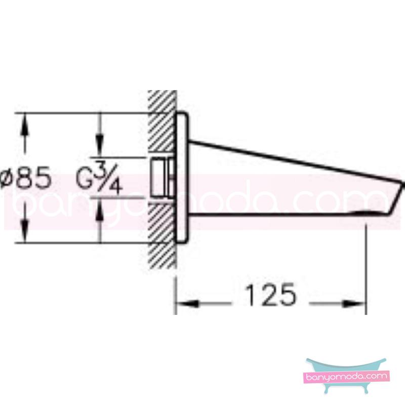 Artema Slope Çıkış Ucu - A40580 eğimli gövdesi ve küçük detaylarıyla banyonuz farklı bir estetik görünüme kavuşur