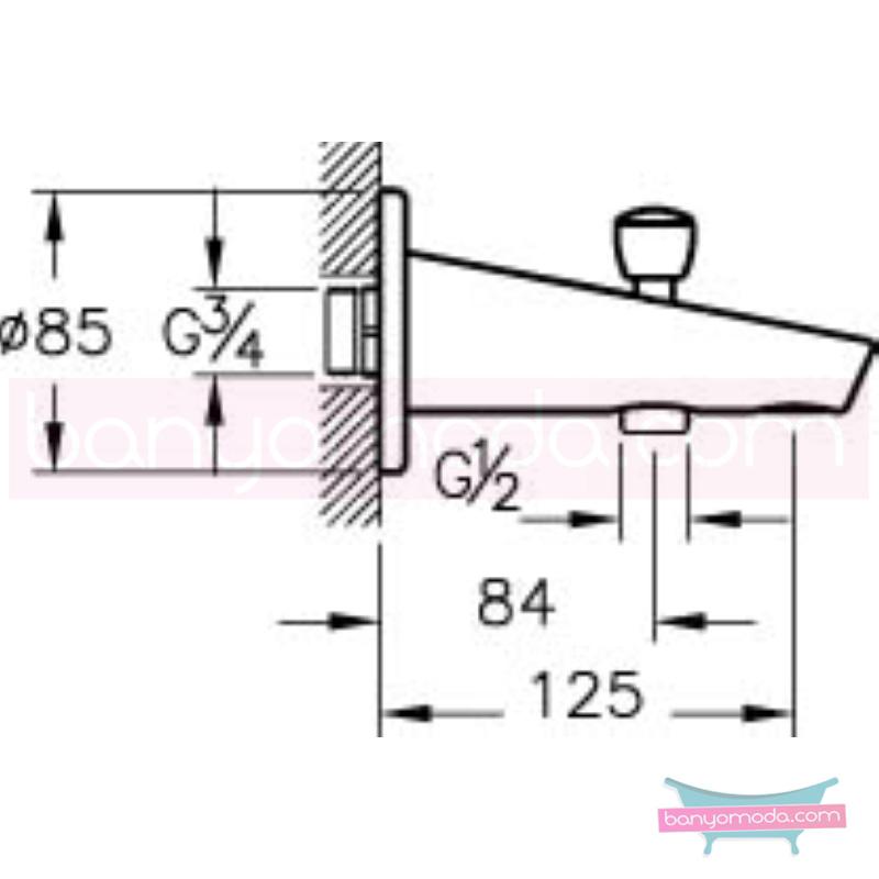 Artema Çıkış Ucu (El Duşu Çıkışlı) - A40581 eğimli gövdesi ve küçük detaylarıyla banyonuz farklı bir estetik görünüme kavuşur