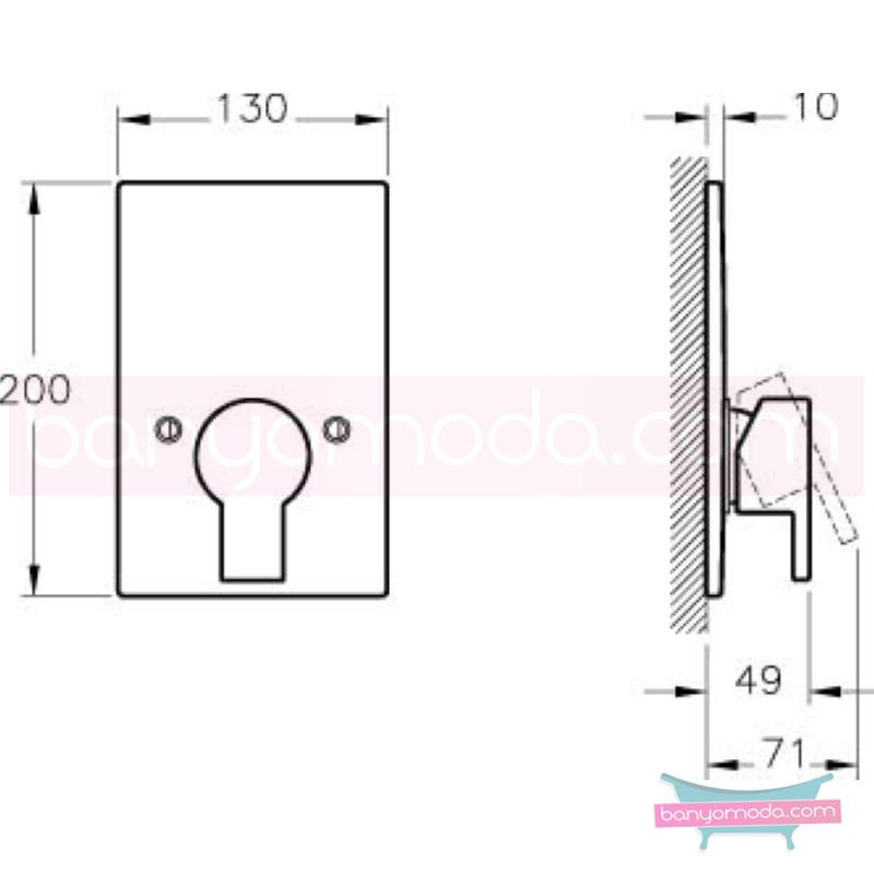 Artema Diagon Ankastre Duş Bataryası (Sıva Üstü Grubu) - A40588 ısı ve debi ayarlı su ve enerji tasarruflu Noa imzalı yalın tasarımla banyonuza ayrıcalık katar