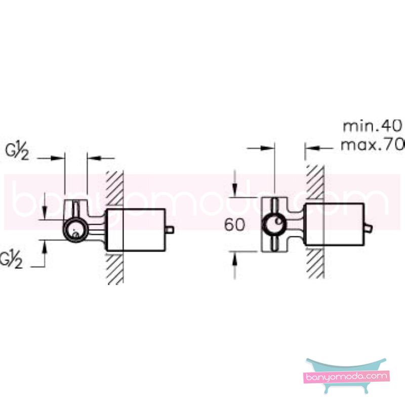 Artema T4 Ankastre Duş Bataryası (Sıva Altı Grubu) - A40639 ısı ve debi ayarlı su ve enerji tasarruflu suyun doğal akışının önem kazandığı Noa tasarımlı armatür