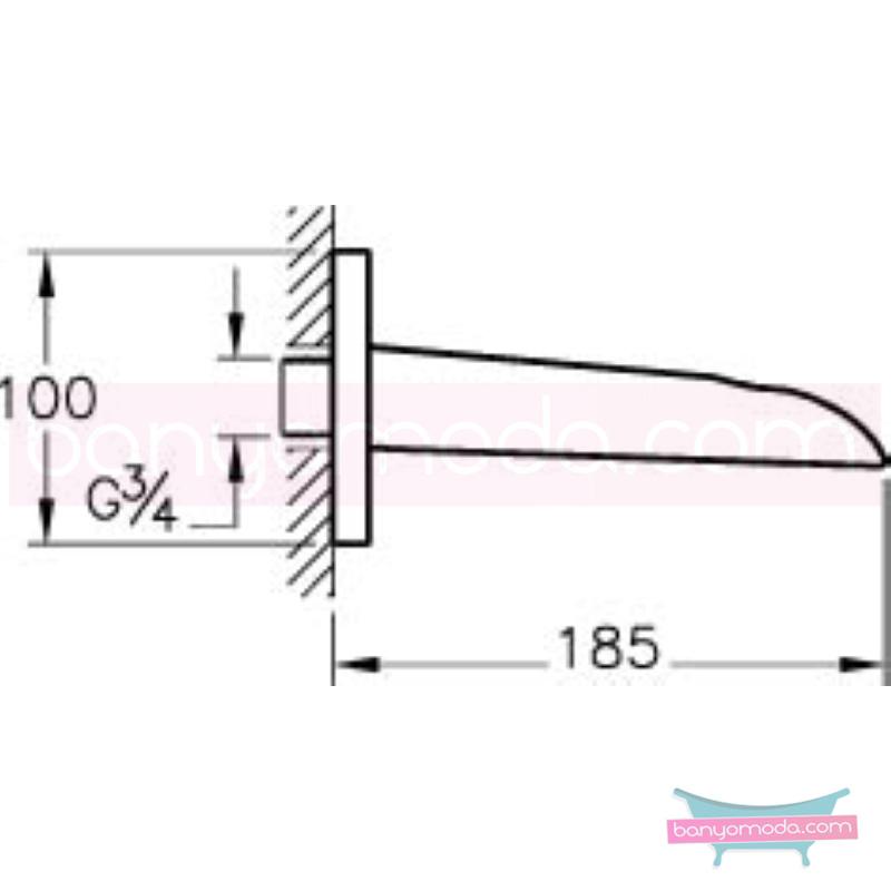 Artema T4 Çıkış Ucu - A40648 suyun doğal akışının önem kazandığı Noa tasarımlı armatür