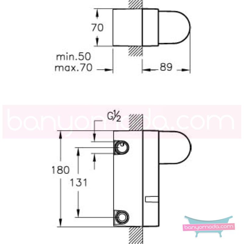 """Artema Style X Ankastre Banyo Bataryası-3 Yollu / Ankastre Duş Bataryası-2 Yollu - A40671 ısı ve debi ayarlı su ve enerji tasarruflu """"Devamlılık"""" ve """"bütünlük"""" düşüncesinden doğan bir armatür. ezber bozan kusursuz tasarımıyla banyonuza devamlılık ve bütü"""