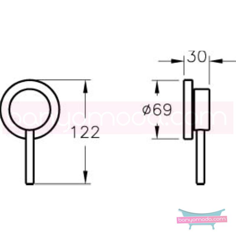 Artema Pure Ankastre Duş Bataryası (Sıva Üstü Grubu) - A40681 özelliklerinin yanı sıra yalın ve kusursuz tasarımıyla banyonuz estetik görünüme kavuşur