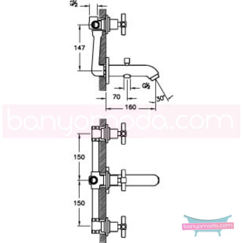 Artema Juno Ankastre Banyo Bataryası (El Duşu Çıkışlı), Altın - A4085523 90 derece açma kapama farklı geometrik ve özgün tasarımıyla banyonuz göz okşayıcı görünüme kavuşur