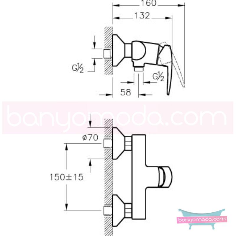 Artema Dynamic S Duş Bataryası - A40954 şık tasarımı ve sıradışı dizaynının yanı sıra uygun fiyatlı armatür