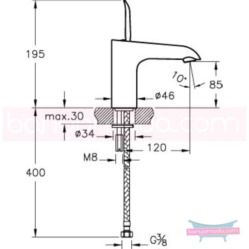 Artema T4 Lavabo Bataryası - A41236 joystick kartuş suyun doğal akışının önem kazandığı Noa tasarımlı armatür