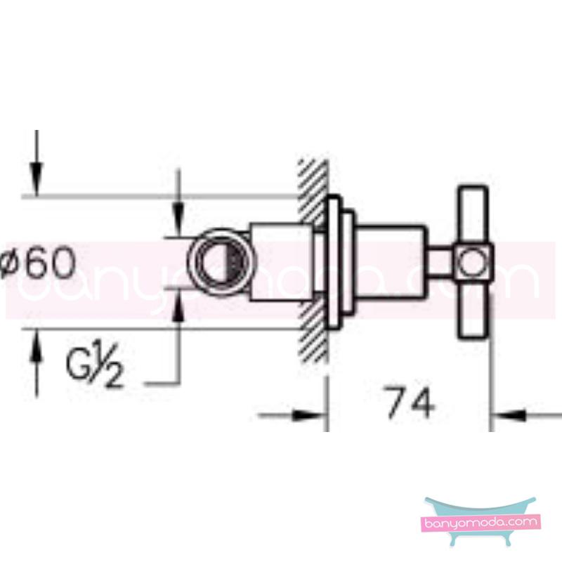 Artema Juno Ankastre Stop Valf - A41411 90 derece açma kapama farklı geometrik ve özgün tasarımıyla banyonuz göz okşayıcı görünüme kavuşur