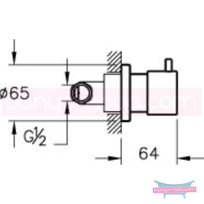 Artema İlia Ankastre Stop Valf - A41415 180 derece açma kapama özelliklerinin yanı sıra sadelik ve estediği yansıtan armatür