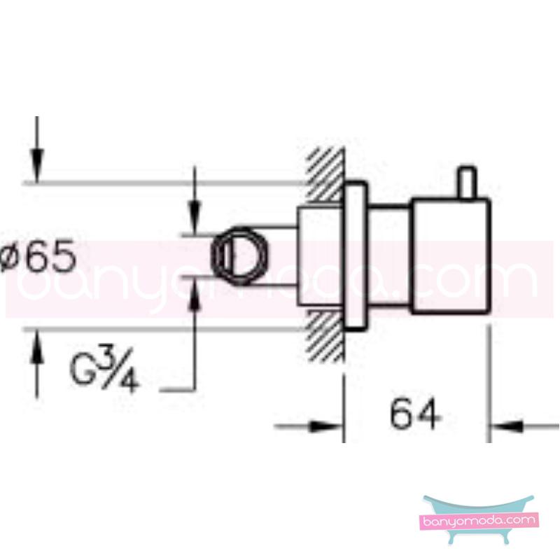Artema İlia Ankastre Stop Valf - A41417 90 derece açma kapama özelliklerinin yanı sıra sadelik ve estediği yansıtan armatür