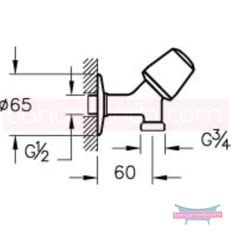 Artema Çamaşır Musluğu - A41510 90 derece açma kapama armatür ve batarya tamamlayıcı üründür