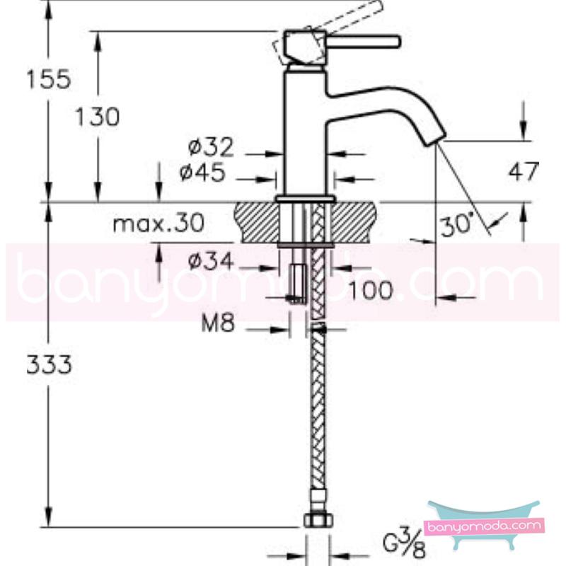 Artema Minimax S Musluk (Tek Kumandalı) - A41579 minimalist tasarımlı uygun fiyatlı armatür
