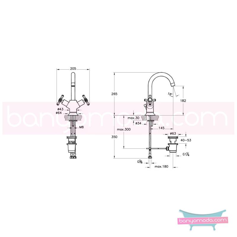 Artema Juno Swarovski Lavabo Bataryası (Sifon Kumandalı) - A41661 90 derece açma kapama görkemli bir banyo ortamı oluşturmak icin yaratıldı