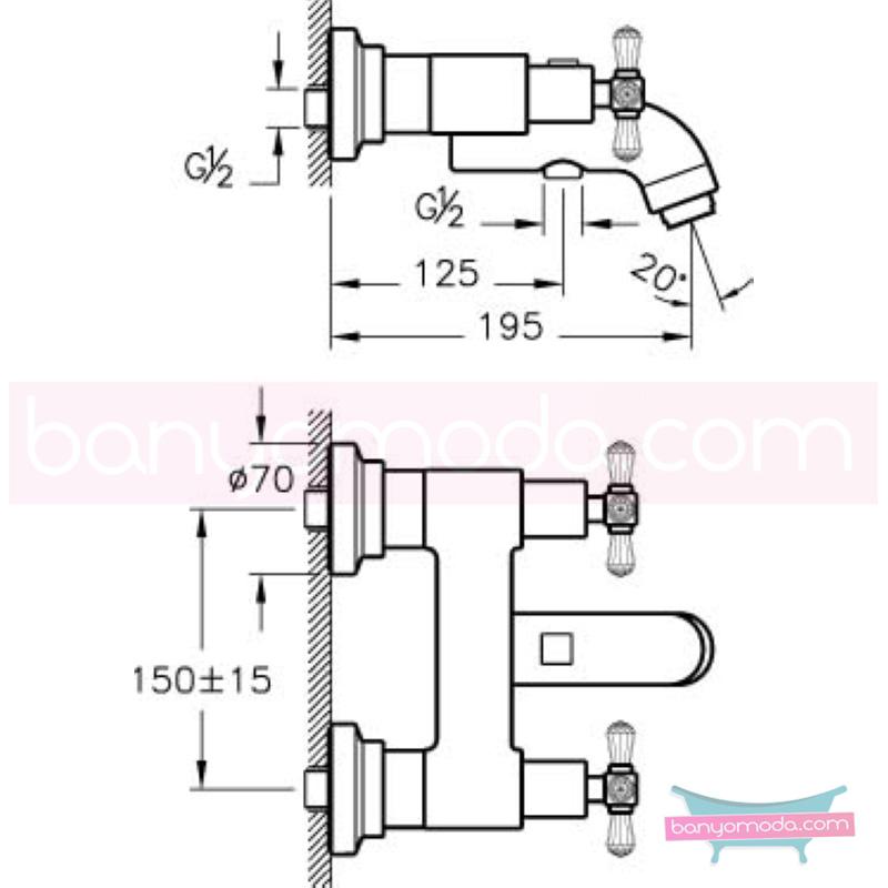 Artema Juno Swarovski Banyo Bataryası - A41666 90 derece açma kapama görkemli bir banyo ortamı oluşturmak icin yaratıldı