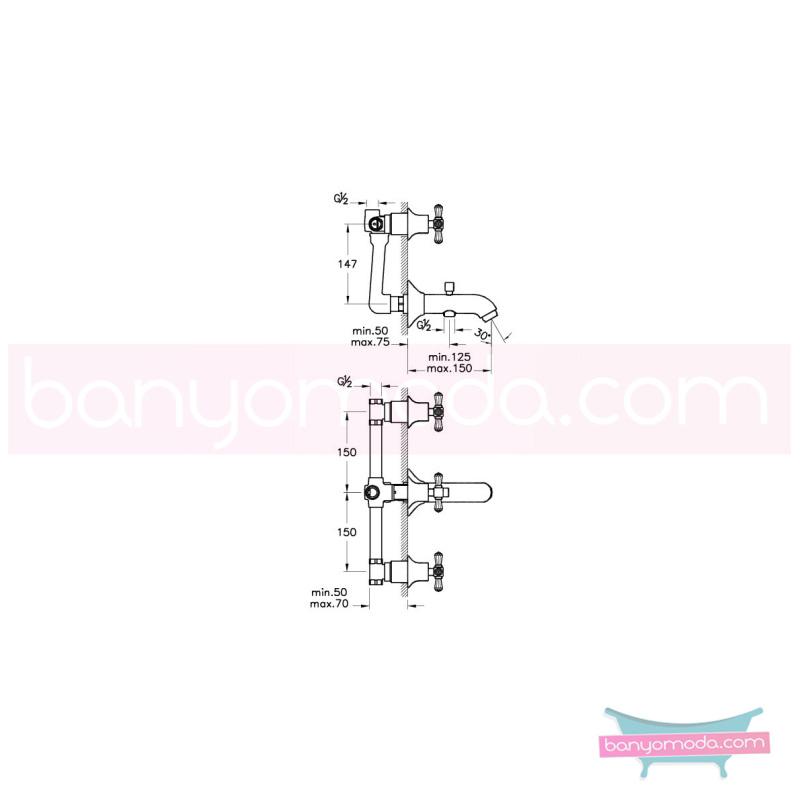 Artema Juno Swarovski Ankastre Banyo Bataryası (El Duşu Çıkışlı) - A41668 90 derece açma kapama görkemli bir banyo ortamı oluşturmak icin yaratıldı